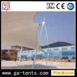 Q235 tienda de la cortina del jardín del estiramiento de la cubierta del acero PVDF