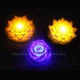 Cute Floating Artificial Battery Operated Plastic LED Peony Flowers para crianças