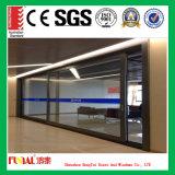 Qualitäts-Doppeltes glasig-glänzende Aluminiumschiebetür