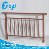 Balustrade en bois en aluminium de rotation de fini de balustrade d'escalier de chêne rouge