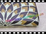 Silk Drucken PU lederne Dame Wallet mit Reißverschluss herum zu preiswertestem Preis für Förderung