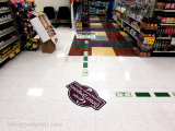 Passte allen Entwurfs-preiswerten Preis-Blick-Kunst-Fußboden-Aufkleber für Verkauf an
