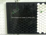 Mosaico negro del mármol del color, azulejo de mosaico de mármol