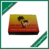 Caixa de armazenamento seca personalizada da palma de tâmara da fruta da impressão