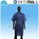 PP / SMS / bata de paciente microporosa No tejido desechable