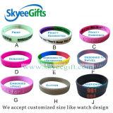 L'abitudine ha impresso/Wristband del silicone di marchio/braccialetto stampato/stampato del silicone/braccialetto di gomma