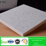 Weiße feste künstliche Quarz-Prüftisch-Oberflächenoberseite