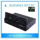 ヨーロッパのMultistreamの解読ボックスZgemma H5.2tcのLinux OS衛星またはケーブルの受信機Hevc/H. 265 DVB-S2+2*DVB-T2/Cの対のチューナー