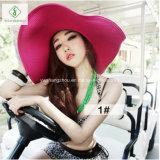 Chapéus dobrados das mulheres da palha de Europa da venda forma quente para o verão