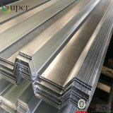 Hoja de acero acanalada galvanizada de la azotea de la cubierta de suelo del material de construcción