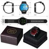 Kw88 3G Aufruf-androide intelligente Telefon-intelligente Uhr-rote Farbe