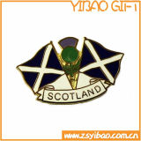 Distintivo su ordinazione di Pin di marchio di stampa con la parte superiore a resina epossidica (YB-Lp-053)