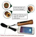 Haut-parleur de accrochage sans fil de Bluetooth de torche de lampe-torche de DEL mini