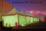 Barraca de alumínio personalizada do Pagoda do Gazebo do PVC para o banquete de casamento do evento
