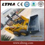 중국 판매를 위한 작은 로더 700kg 소형 미끄럼 수송아지 로더