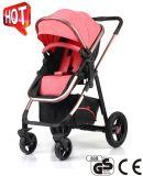 Modelo nuevo 2017 3 en 1 cochecito de bebé de lujo con estándar europeo