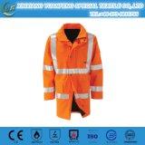 El poliester 100% de la seguridad del Workwear, ligero impermeabiliza hola la chaqueta de la seguridad del Vis
