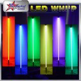 Nouveau modèle de télécommande flexible Dancing LED Whip, 4feet, 5 pieds et 6 pieds Long Whip LED avec haut et bas RGB Dancing Whip
