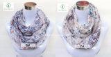 Europa-gedruckte Form-Blumendame Infinity Scarf des heißen Verkaufs-2017