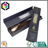Rectángulo de empaquetado del oro del pelo de la extensión de la cartulina del regalo de lujo del papel