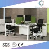 Poste de travail rouge de modèle moderne de bureau de tâche de meubles de bureau de mélamine d'allumette blanche