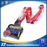 昇華締縄が付いているカスタマイズされた回転のきらめきのエナメルメダル