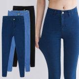 OEMの女性安いLeggingの方法デニムのジーンズの細いジーンズ