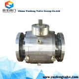 3PC a modifié le robinet à tournant sphérique de tourillon d'acier inoxydable