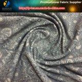 Tissu de Spandex de polyester avec l'impression de lotus pour la chemise des hommes (YH2133)