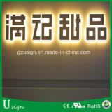 Carta puesta a contraluz de acrílico luminosa del LED, muestras puestas a contraluz de la carta