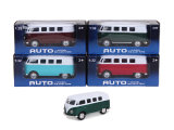 Puxar para trás Toy Bus Die Cast Car Model Car (H1459031)