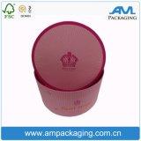 Kundenspezifischer wasserdichter Papierblumen-Kasten mit Kappen-dem runden Kasten-Gefäß-Verpacken