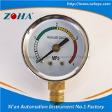 Manómetro con cuatro colores para indicar la presión