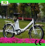 Fábrica barata de dobramento pequena do preço da bicicleta elétrica da bateria de lítio direta