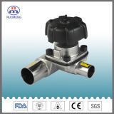 De sanitaire Klep van het Diafragma van het Roestvrij staal met de Certificatie van Ce ISO 3A