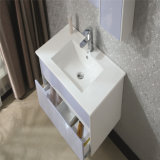 Module de salle de bains moderne fixé au mur en bois de chêne de type