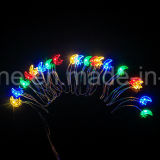 Moon Star Jeu de lumières 20 Lumières de Noël LED avec capteur de lumière pour Décoration