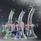 Klein, 9 Zoll rauchende Wasser-Glasrohr-mit buntem Perc glänzend