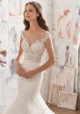 2017 vestidos de casamento nupciais Wd509 do alargamento lindo