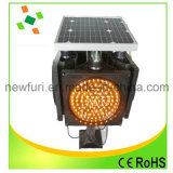 Solar ámbar amarillo luz intermitente con 170 PCS LED