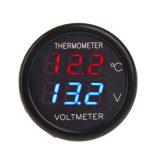 Термометр цифрового вольтметра индикации СИД автоматического лихтера сигареты автомобиля двойной