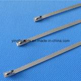 100PCS 4.6mmx300mm Edelstahl-Reißverschluss-Kabelbinder-Verschluss-Gleichheit-Verpackung