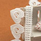 Tessuto lungo del testo fisso del merletto delle nappe delle nappe all'ingrosso per il vestito