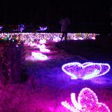 عطلة زخرفيّة [لد] زهرة فراشة ضوء لأنّ حيوانيّ ضوء عرض