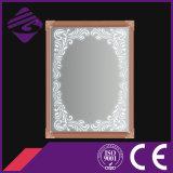 Specchio della stanza da bagno incorniciato arte fissata al muro di rettangolo con il LED