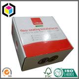 Casella di trasporto dell'imballaggio del documento ondulato della stampa di colore completo e scanalatura