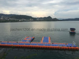 Bacino galleggiante di forma di v del pontone del pattino grigio del getto
