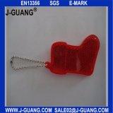 安全昇進のための金属のキーホルダーが付いている反射のハンガー