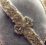 Cinghia nuziale d'accensione splendida di cerimonia nuziale del nastro di seta dei Rhinestones