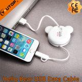 Neuer hallo-Bär 2 in 1 USB-Daten-Kabel für iPhone/Android